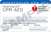 American Heart Association - Heart Saver CPR AED